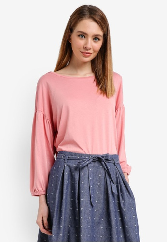 ESPRIT pink 3/4 Sleeve Top 692EFAAAF39E0DGS_1