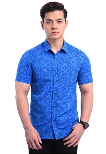 UA BOUTIQUE blue Shirt Batik RBS10-041 (Blue) 92CB5AA4C66048GS_1
