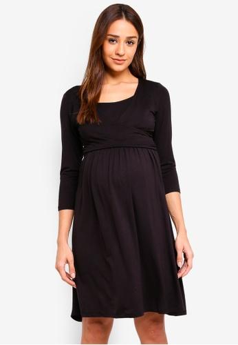 JoJo Maman Bébé black Maternity & Nursing Tie Dress 7D1FFAA0E530C9GS_1