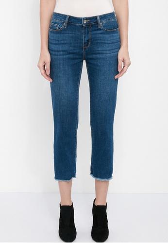 Dkny black DKNY Women Slim Straight Crop Jeans AD675AA211C00DGS_1