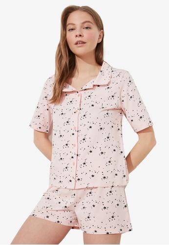 Trendyol 多色 印花Pajamas Set 5478CAA559CC98GS_1