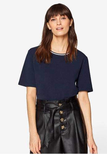ESPRIT navy Short Sleeve T-Shirt 1E23DAAC777C8DGS_1
