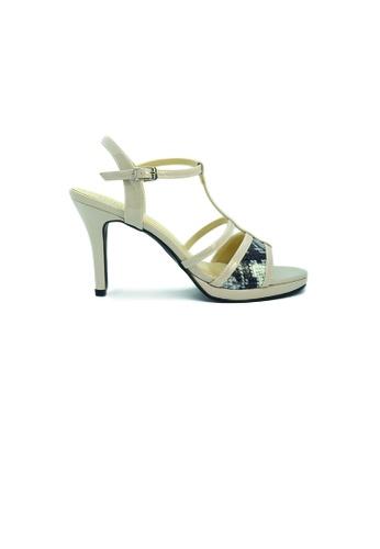 SHINE beige Strapy Plateform Heels SH554SH0GE83SG_1