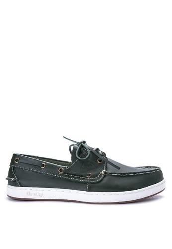 Grosby green Boat Time Boat Shoes GR420SH0J07LPH_1