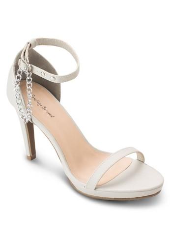 鍊飾高跟涼鞋, 女esprit 羽絨外套鞋, 高跟