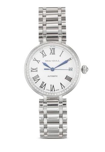 716.417L ST2130 32mm 閃esprit 京站鑽機械鏈帶女錶, 錶類, 飾品配件