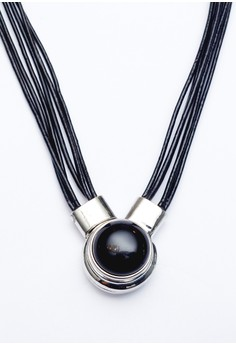 Pre-styled Genuine Leather Magnetic Necklace