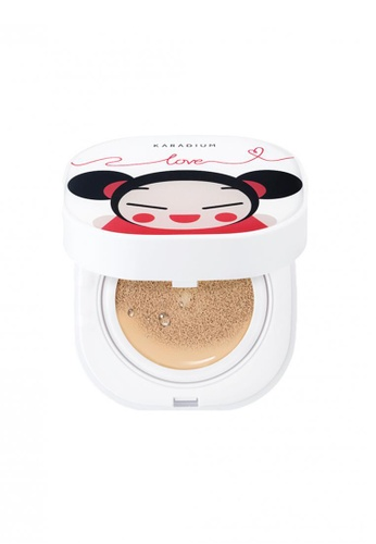 Pucca beige Love Edition Moisture Cover Cushion #23 Natural Beige PU312BE85SBISG_1