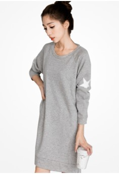 Starry Stamps Shirt Dress