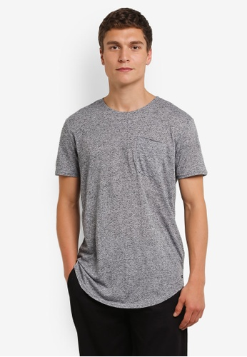 Factorie 灰色 Drop Curved Tee FA880AA0RPMIMY_1
