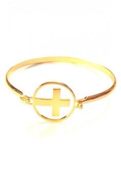 Stainless Gold Faith Bangle