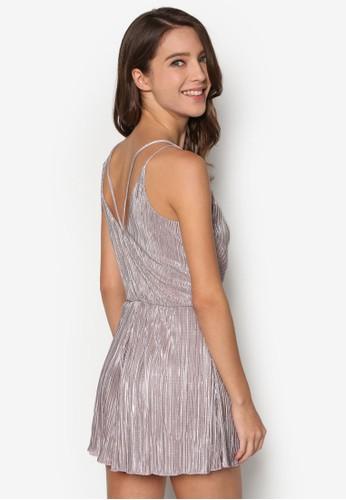 Lurex 細褶細肩帶連身褲、 服飾、 知性女強人MissSelfridgeLurex細褶細肩帶連身褲最新折價