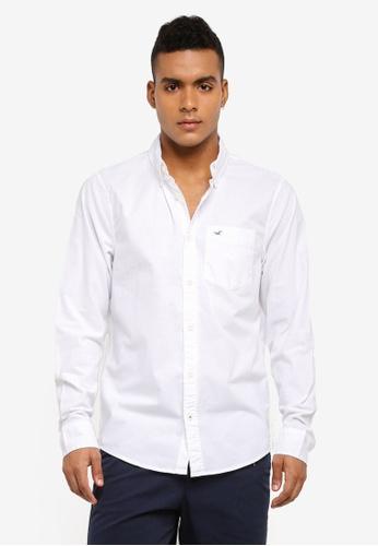 Hollister white Poplin Solid Shirt 98102AA47881D1GS_1