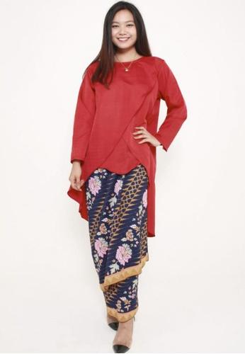 Naphthys Collection multi and navy Batik Skirt/Sarong E8953AA3EF432AGS_1