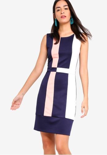 ZALORA multi Colour Block Sheath Dress D5978AAEAA4C44GS_1