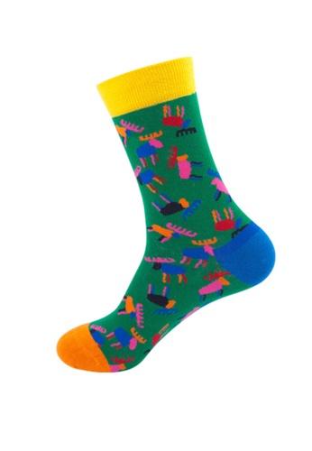 Kings Collection 綠色 鹿圖案舒適襪子 (均碼) HS202262 DAF2EAA871A0DDGS_1