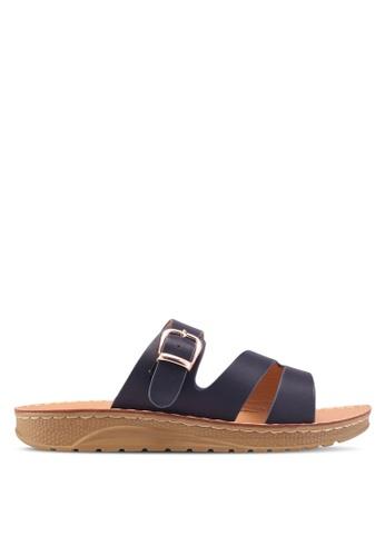 Noveni 海軍藍色 Slide-On Sandals 4B8C4SHBBE9797GS_1