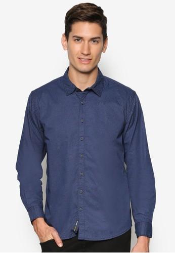 簡約長esprit hong kong 分店袖襯衫, 服飾, 印花襯衫