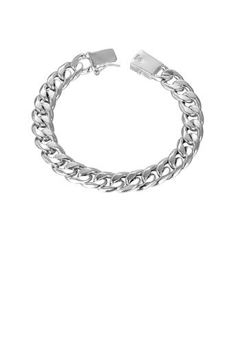Glamorousky silver Simple Geometric Sideways Bracelet 76EDAAC74B3077GS_1