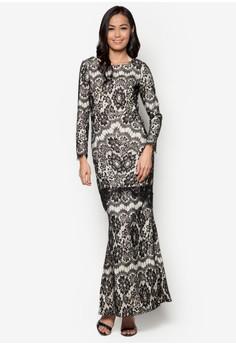 Baju Kurung Lace Overlay - Vercato Dulcie