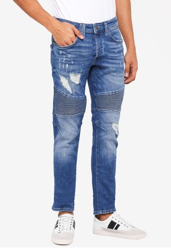 Jack & Jones blue Distressed Jeans 1F341AAE88AADCGS_1
