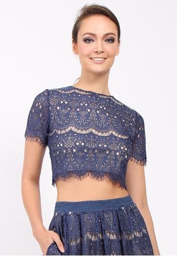 2c9d60414daf0 Lowela blue Scallop Lace Crop Top LO721AA93TQKMY 1