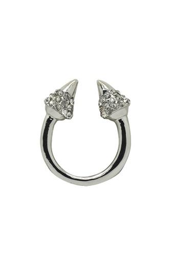Fur Nyce silver Fashion Horn Ring FU779AC0RIZNMY_1