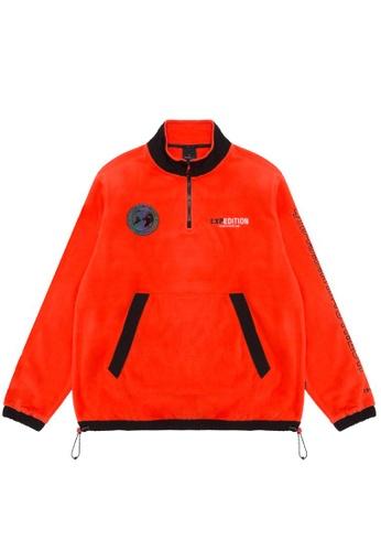 Fingercroxx orange Contrast logo sweatshirt 641A3AA9F7FBB3GS_1