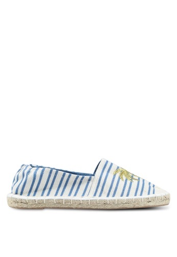 OVS white and blue Espadrilles With Striped Upper and Embroidery 76374SH0981A0BGS_1