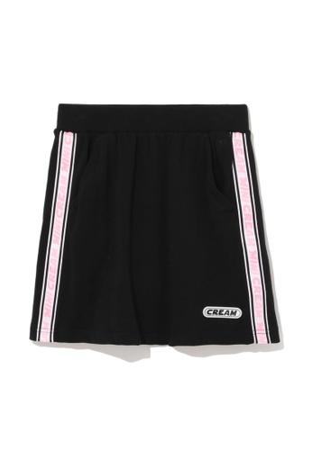 Mini cream black Logo tape mini skirt ABCEFAAA630DE9GS_1
