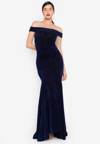 12fb7812 Shop Daria Greta Off Shoulder Mermaid Gown Online on ZALORA Philippines