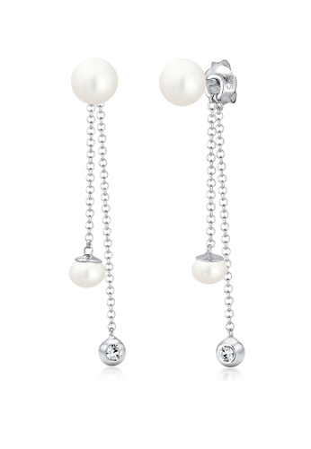 Elli Germany silver Elli Germany Earrings Solitaire Pearl Swarovski Crystals 925 Sterling Silver D50A6ACD50A872GS_1
