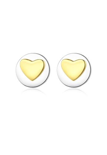 SUNRAIS silver High quality Silver S925 silver heart earrings CC44BACD049BC2GS_1