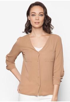 Chiffon Shirt with Pocket