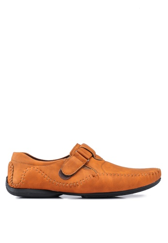 Rocklander brown Matarazo Strap-On Moccasins 916B1SH101DDE9GS_1