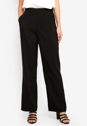 ZALORA black Pleat Detail Trousers 63864AA538CB79GS_1