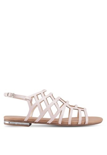 Nose pink Strappy Sandals F5416SH84EE288GS_1