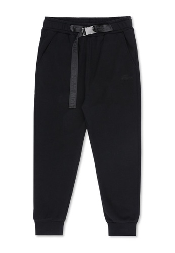 MUSIUM DIV black Belted track pants 7E93DAA98ED049GS_1