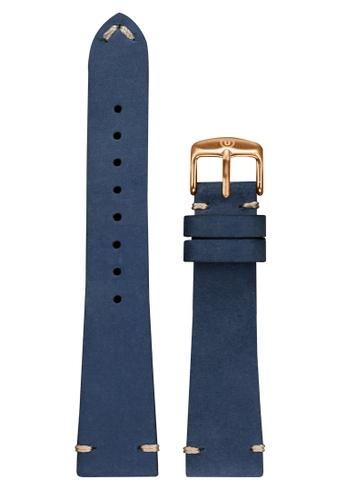 Undone blue Undone Blue Calf Leather Strap 20mm (Rose Gold Buckle) UN712AC2VEKNHK_1