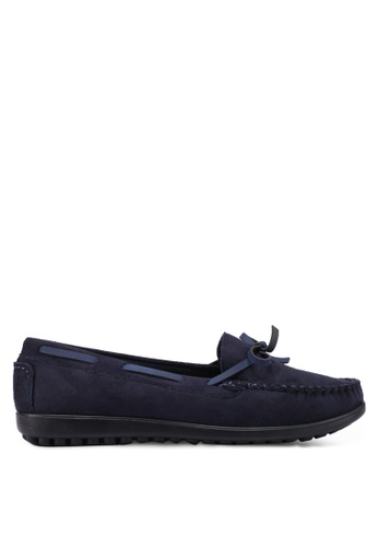 Louis Cuppers navy Bow Moccasins 46748SH0C0D2FBGS_1