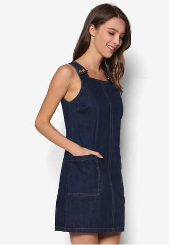 Popper Pinafore Denim Dress、 服飾、 洋裝DorothyPerkinsPopperPinaforeDenimDress最新折價