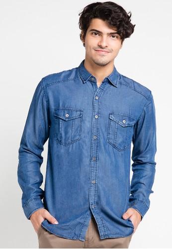 EDWIN blue Original Denim Shirt 205-10 ED179AA0URIGID_1