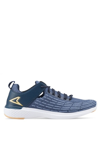 Power blue and navy Connect Balance Walking Shoes DF91ASHA7630B0GS_1