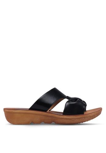 Noveni 黑色 蝴蝶結涼鞋 5432BSH0CDE0F4GS_1