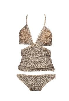 MULTIWEAR Convertible Tankini / Bikini-bandeau - Leopard