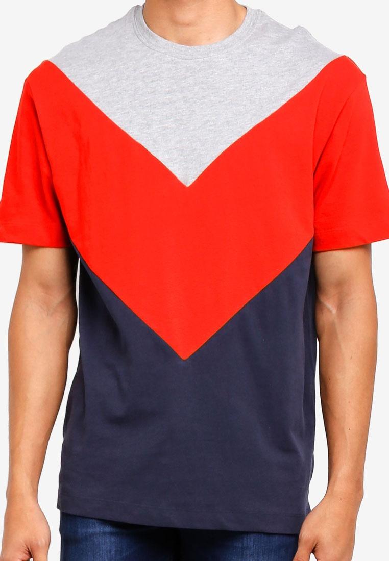 Red Shirt Chevron Red T Topman Multi 4qBnAwO