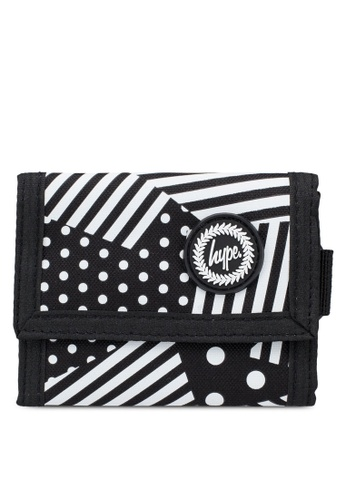 Just Hype black and white and multi Ship Stripe Trifold Wallet F2D7AACEDBD65FGS_1