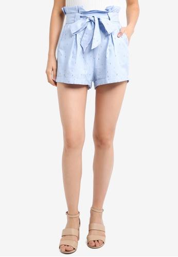 ZALORA blue Paperbag Shorts CCFFFAA4104D9DGS_1