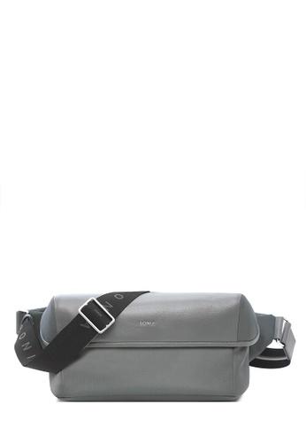 BONIA grey Light Grey Jacopo Sling Pack B62EAACA74156BGS_1