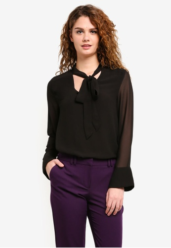 Dorothy Perkins black Black Pussybow Blouse DO816AA0RP3PMY_1